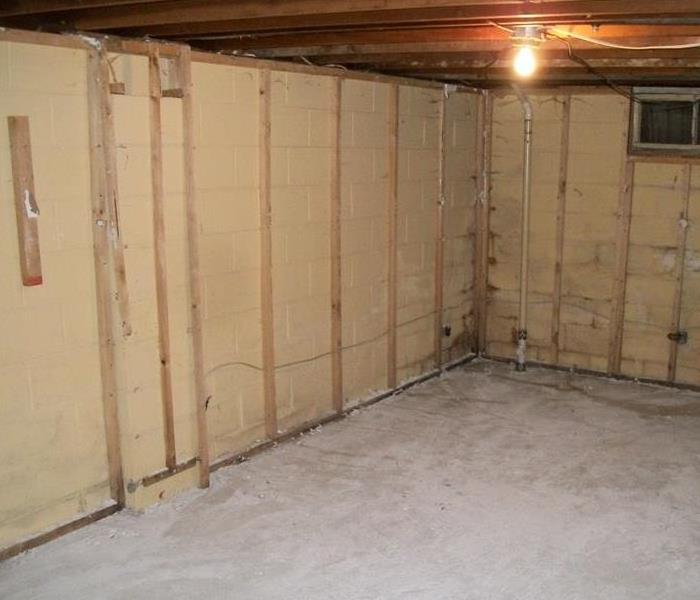 Moldy basement in Rochelle, IL Before