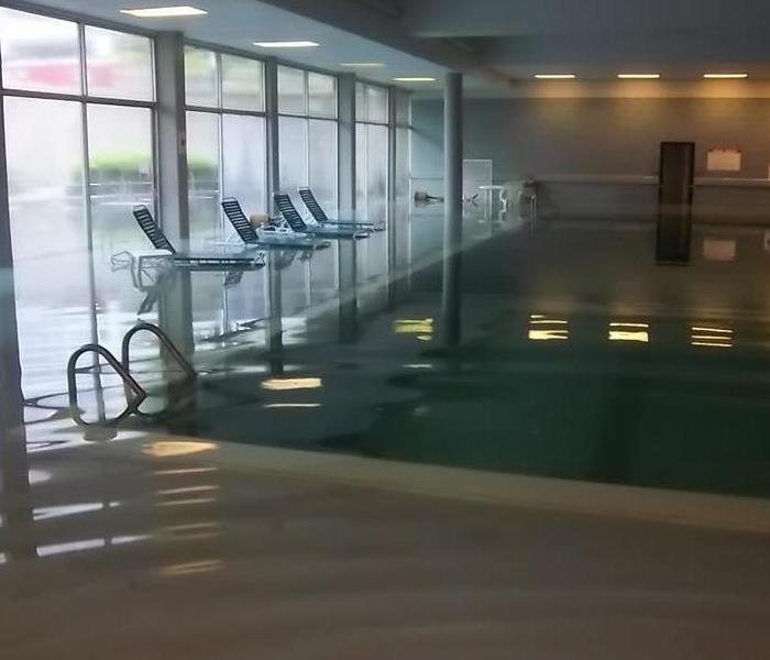 Dekalb, IL apartment complex pool floods Before